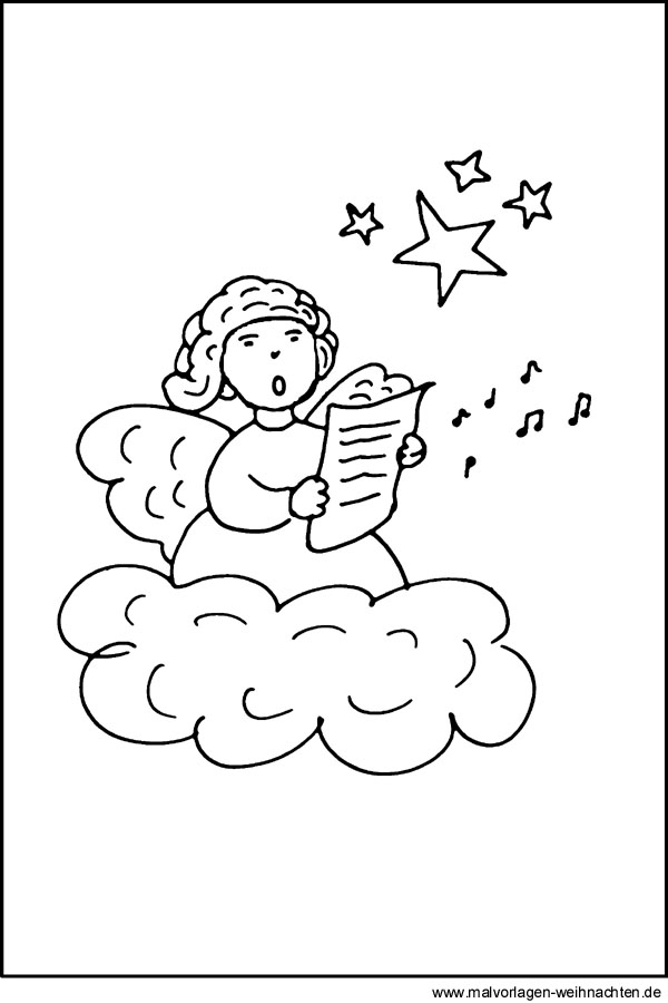 Malvorlage Engel Kostenloses Ausmalbild Für Kinder Zum Ausmalen