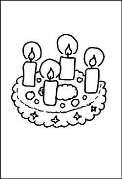 Malvorlagen Von Kerzen Ausmalbilder Und Window Color Zu Weihnachten