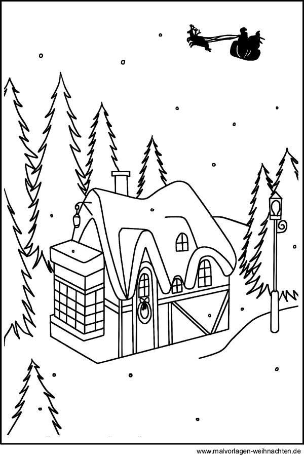winterlandschaft window color bilder zum ausdrucken und. Black Bedroom Furniture Sets. Home Design Ideas