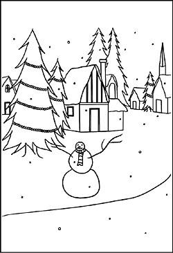 Fensterbilder Von Winter Landschaften Windowcolor Bilder