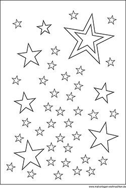 Sterne kostenlos ausmalbilder Ausmalbilder Mond
