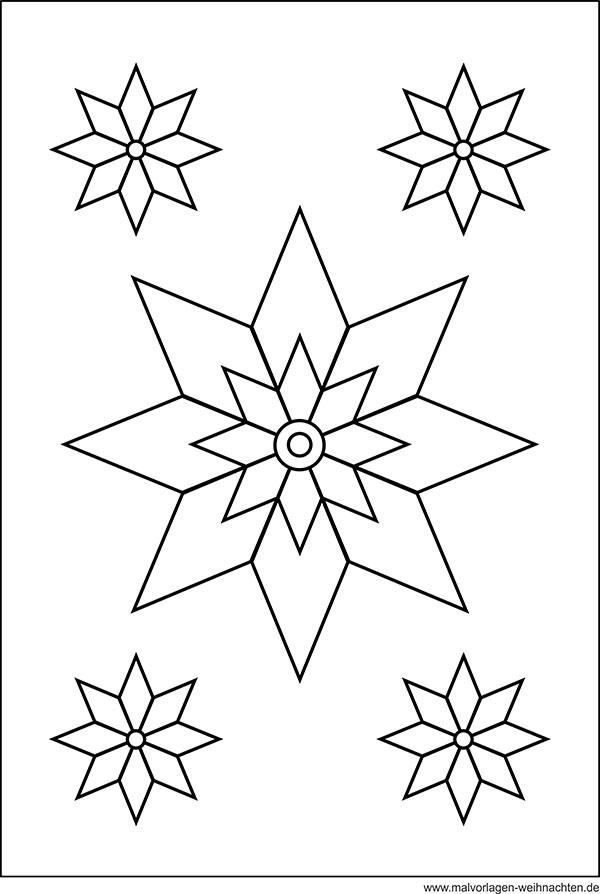 Stern  Window Color Bild  Weihnachtsstern als Malvorlage