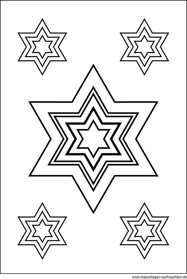 Malvorlage Weihnachtsstern - Window Color Bild mit Stern