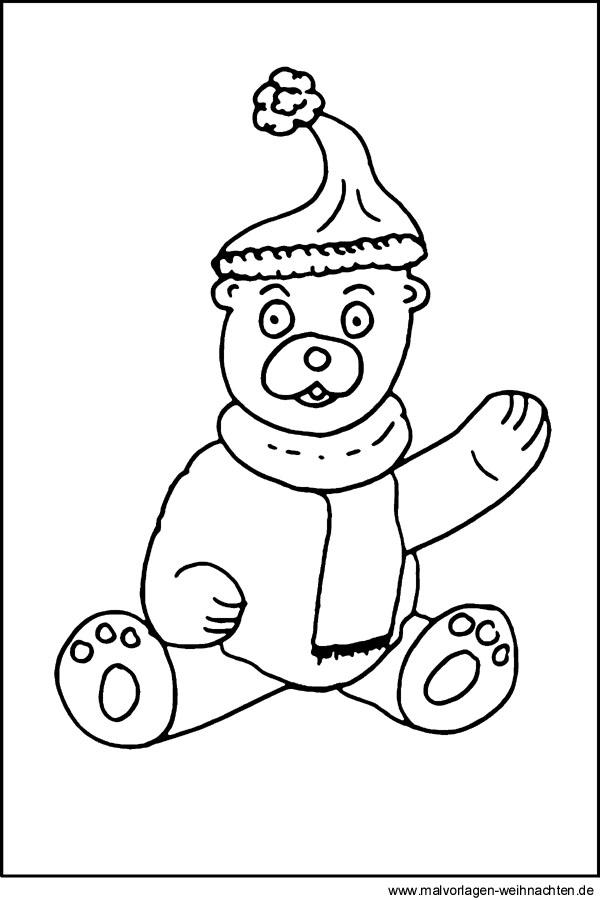 Malvorlage Teddybär Kostenloses Ausmalbild Zum Download