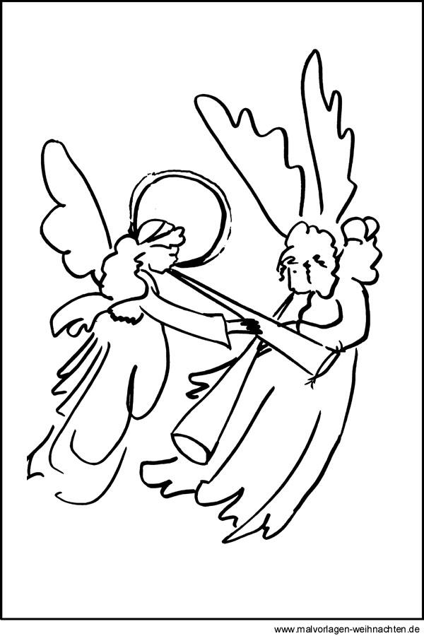ausmalbilder von engeln  kostenloses malvorlagen zu