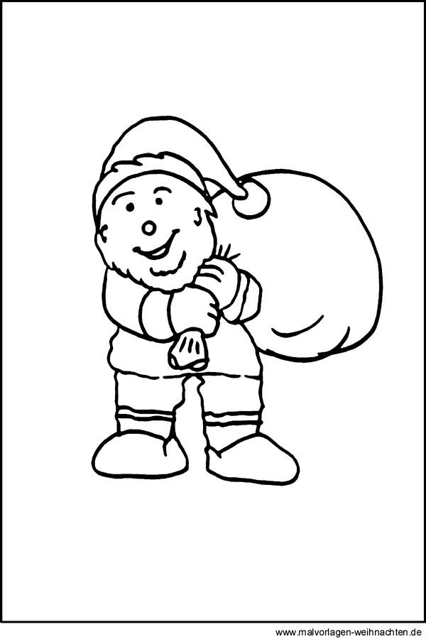 zwerg als malvorlage oder window color bilder zu weihnachten