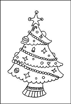 malvorlagen zu weihnachten - weihnachtsbaum - kostenlose motive und bilder für kinder