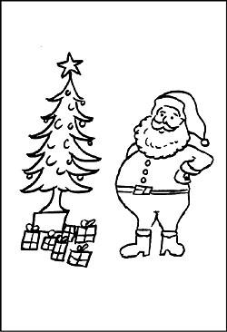 kostenlose malvorlage weihnachtsbaum malen
