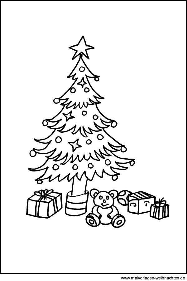 fensterbilder weihnachten tannenbaum malvorlage | coloring