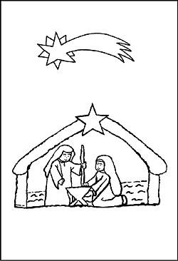 ausmalbild weihnachtskrippe malvorlage krippe zum. Black Bedroom Furniture Sets. Home Design Ideas