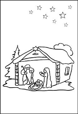 ausmalbilder weihnachten krippe krippe zum ausmalen - malvorlagen