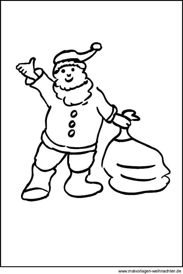malvorlagen weihnachtsmann  kostenloses ausmalbilder für