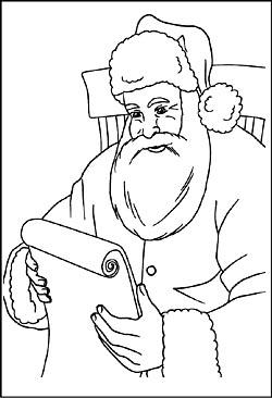 nikolaus weihnachtsmann bilder zum ausmalen - malvorlagen