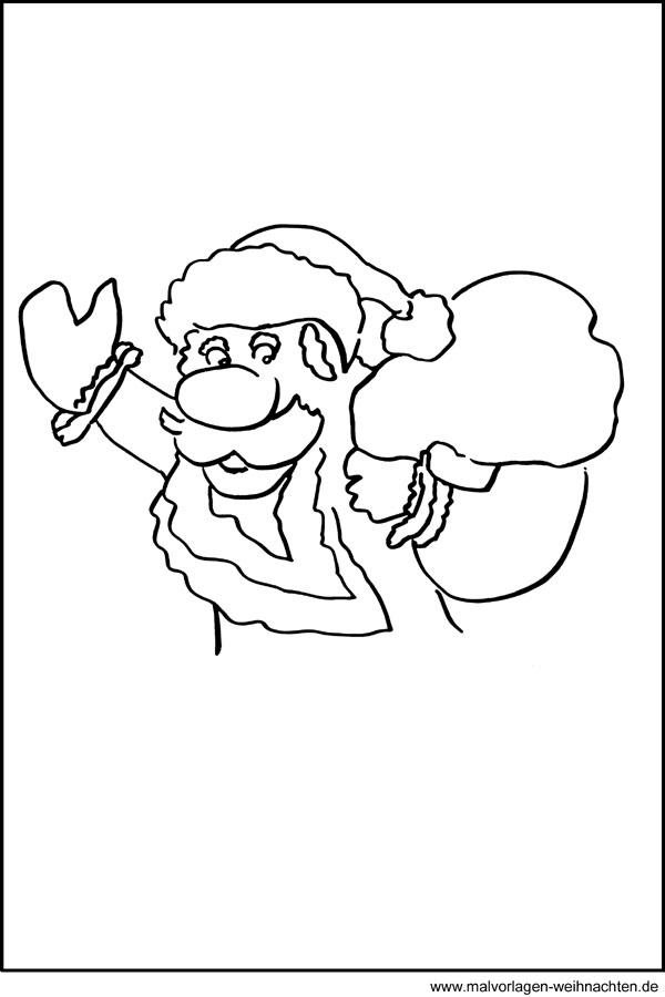 Weihnachtsmann Vorlage Zum Ausdrucken Pdf Kribbelbunt 11