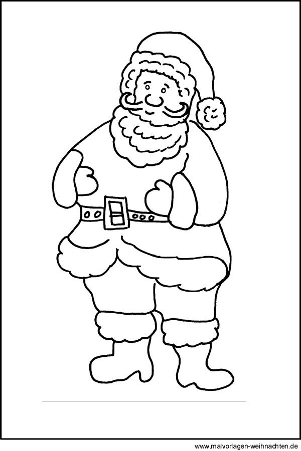 Weihnachtsmann - Kostenlose Malvorlagen und Ausmalbilder für Kinder
