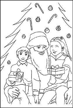 weihnachtsmann und nikolaus - malvorlagen, ausmalbilder, windowcolor bild