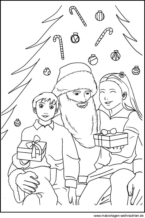 Malvorlagen Vom Weihnachtsmann Zum Gratis Ausdrucken Und Ausmalen
