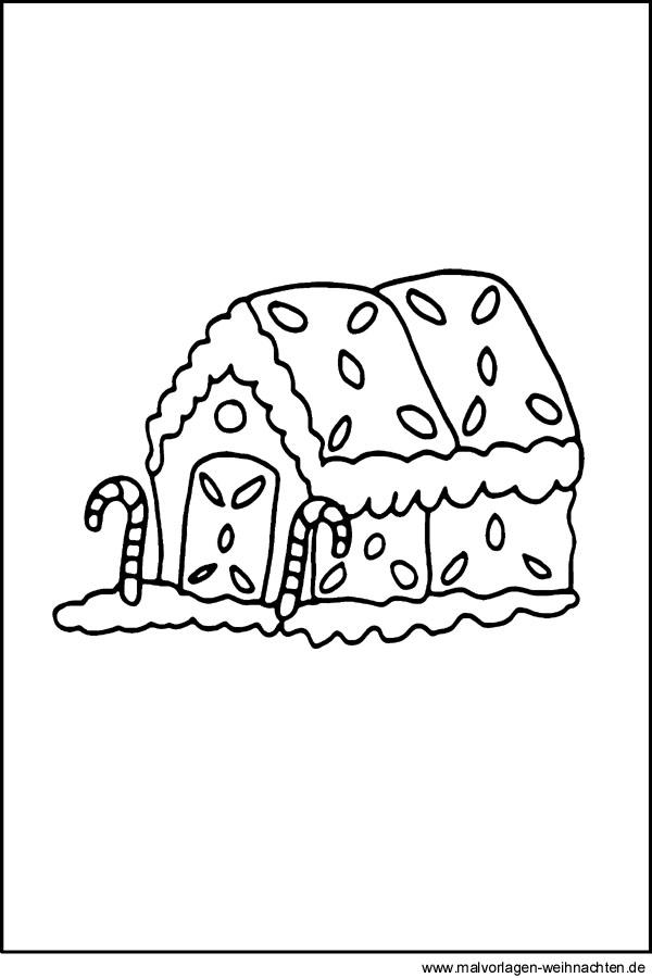 Lebkuchenhaus Malvorlage Ausmalbild Und Window Color Zu